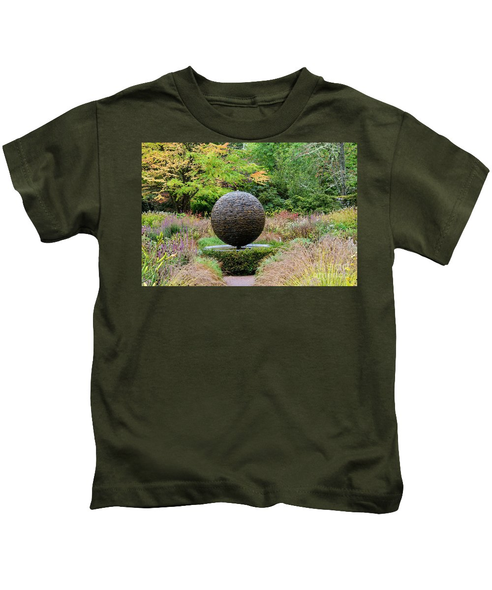Cawdor Castle Kids T-Shirt featuring the photograph Garden Water Feature by Bob Phillips