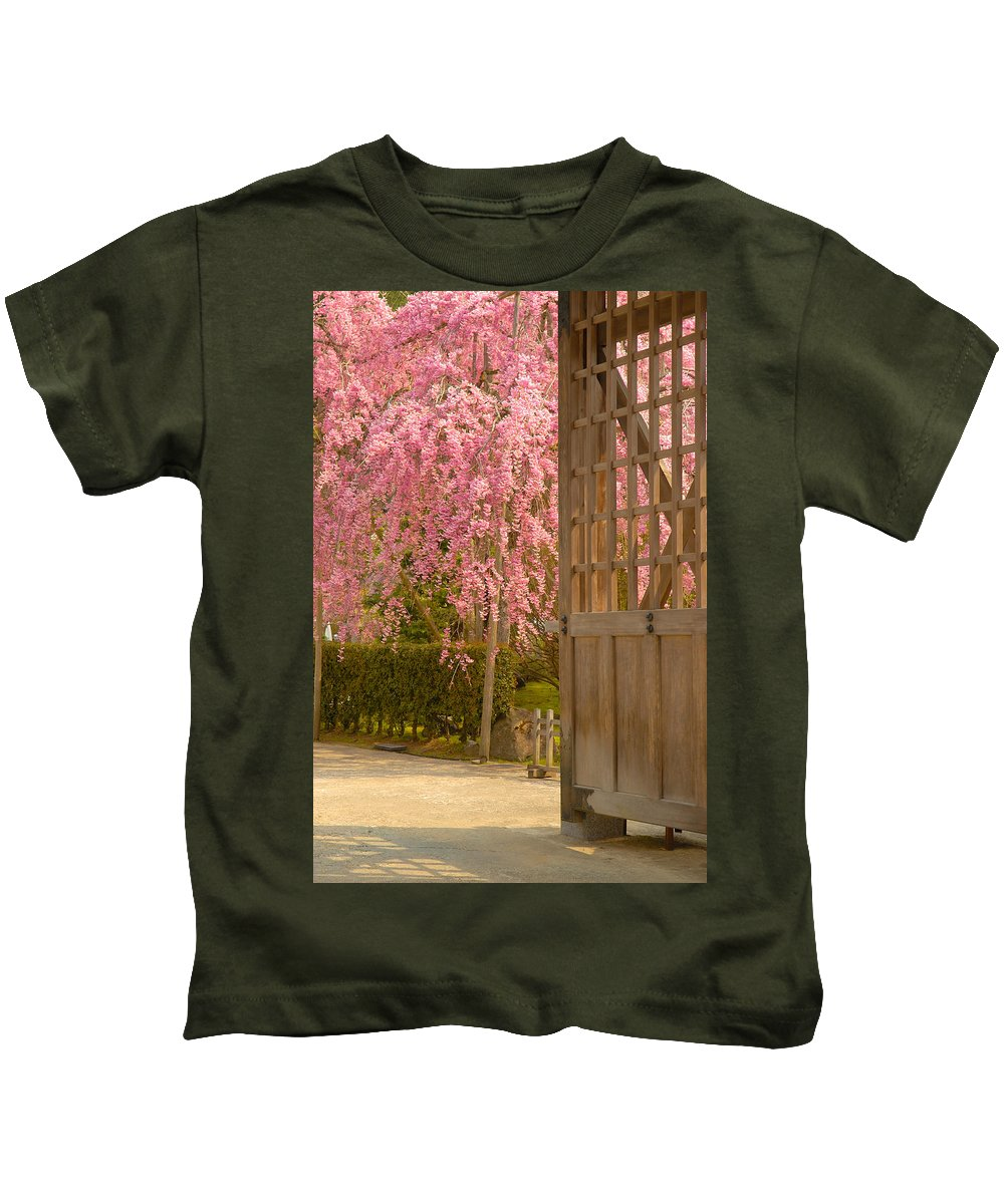Japan Kids T-Shirt featuring the photograph Gate by Sebastian Musial