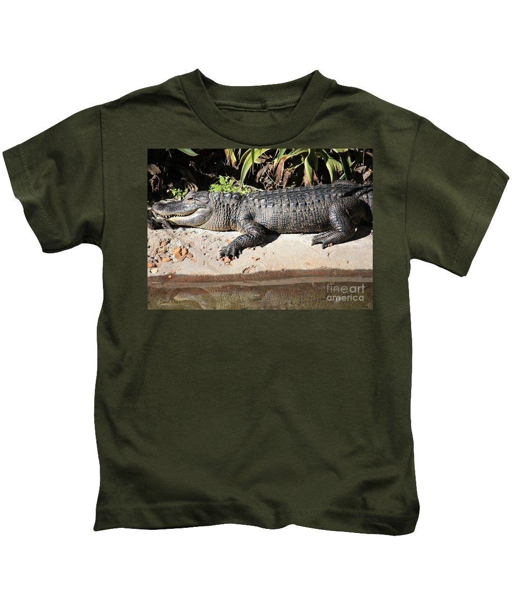 Gator Kids T-Shirt featuring the photograph Gator by Carol Groenen