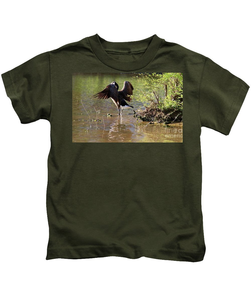 Wildlife Kids T-Shirt featuring the photograph Gaze Into The Sunset by Yvette Winder