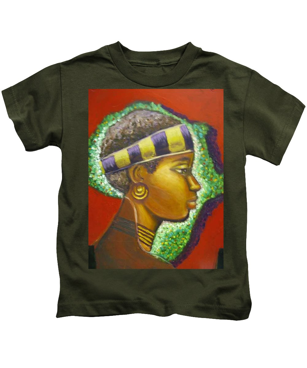 Gem Of Africa Kids T-Shirt featuring the painting Gem Of Africa by Jan Gilmore