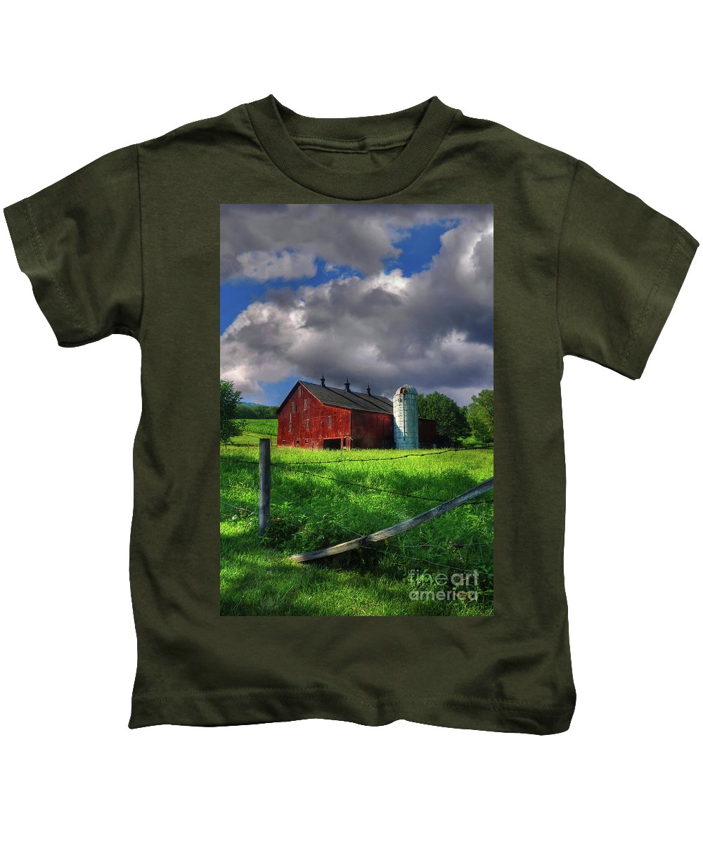 Landscape Kids T-Shirt featuring the photograph Gentle Summer by Lois Bryan