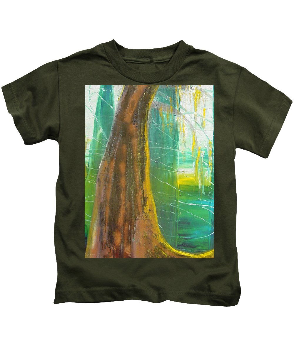 Landscape Kids T-Shirt featuring the painting Georgia Morning by Peggy Blood