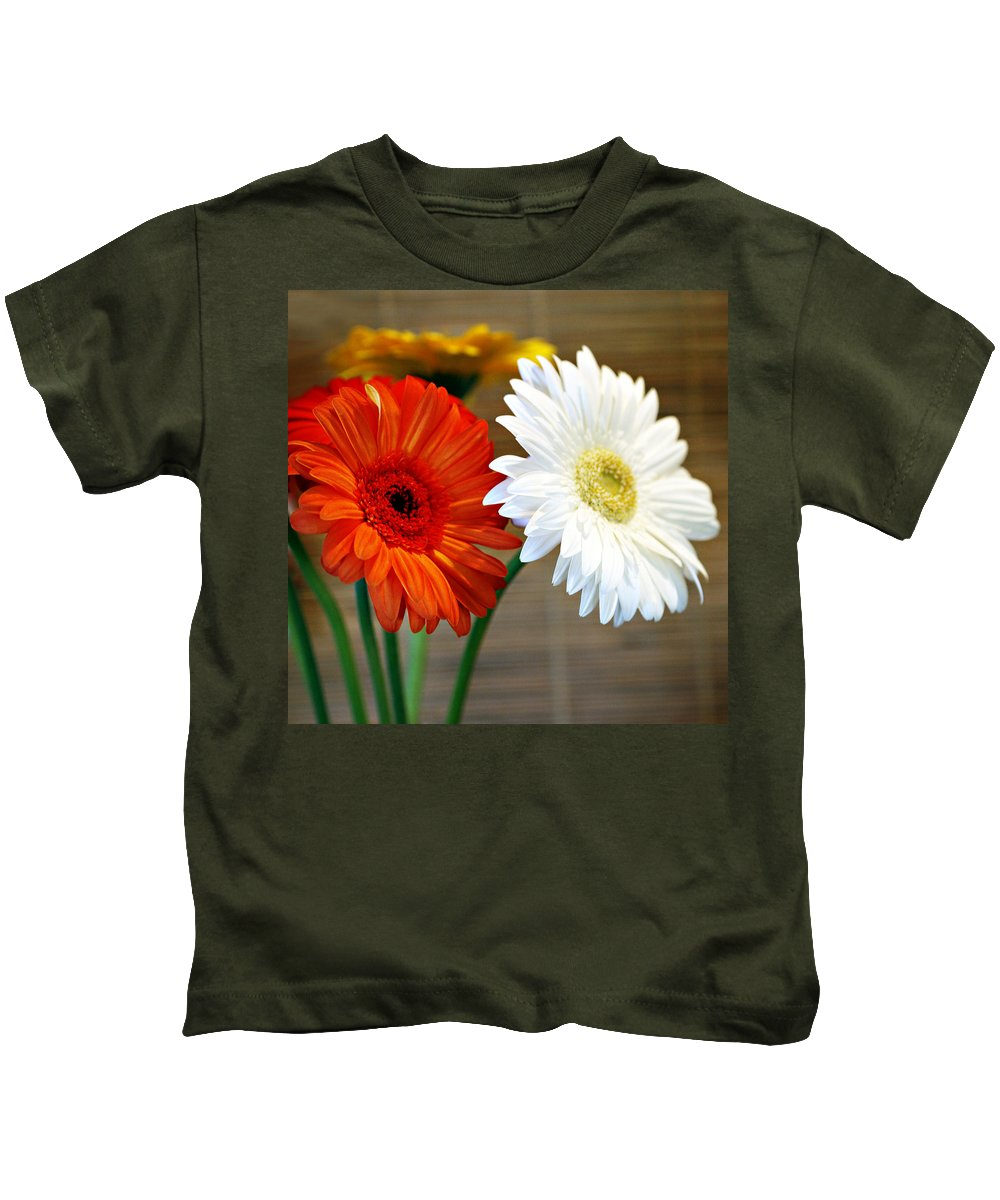 Flower Kids T-Shirt featuring the photograph Gerbers by Marilyn Hunt