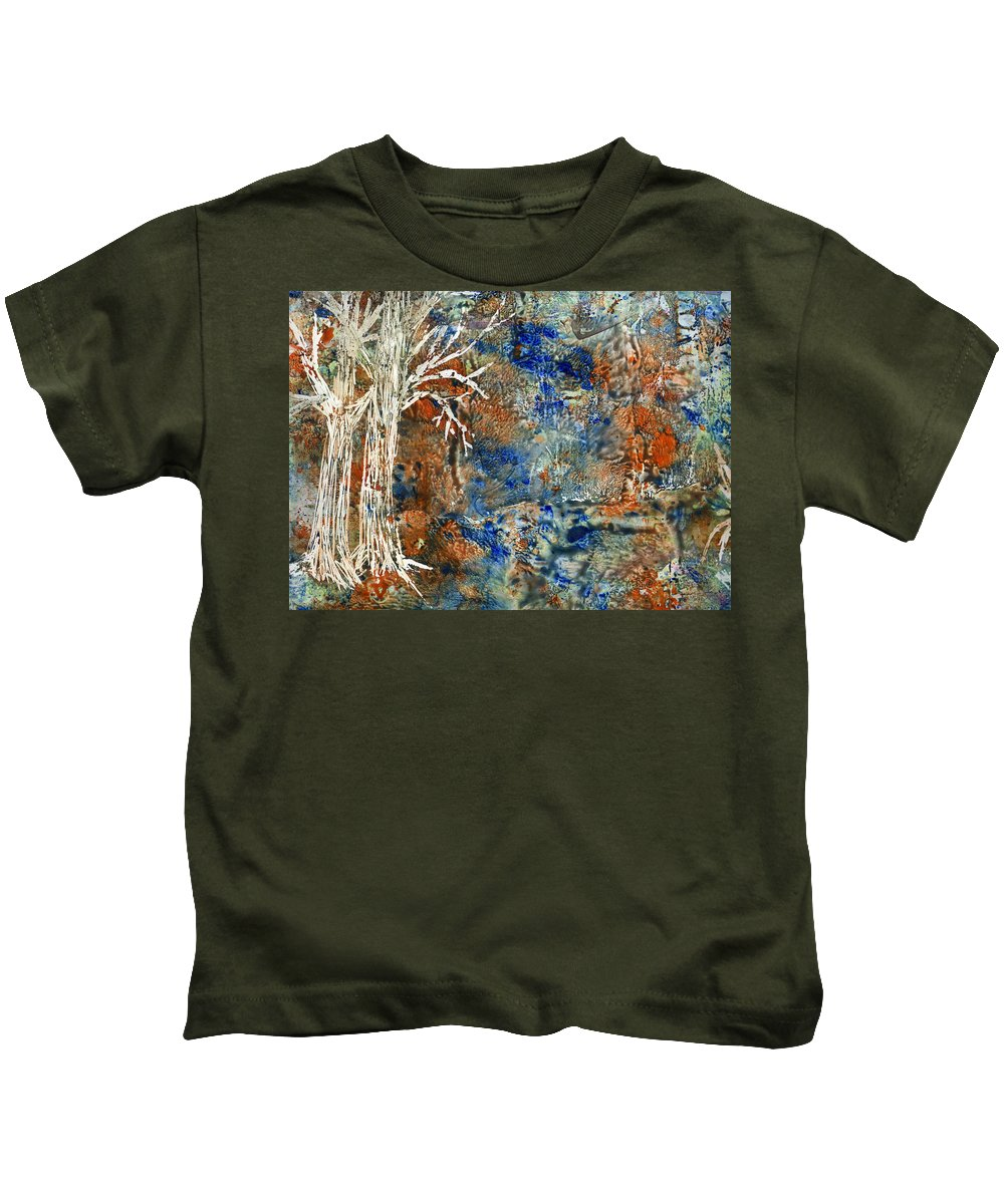 Trees Kids T-Shirt featuring the painting Ghost Trees by Wayne Potrafka
