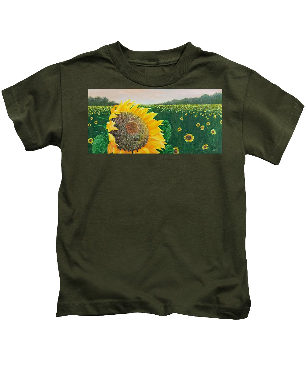 Sue Delain Kids T-Shirt featuring the painting Giver Of Life by Susan DeLain