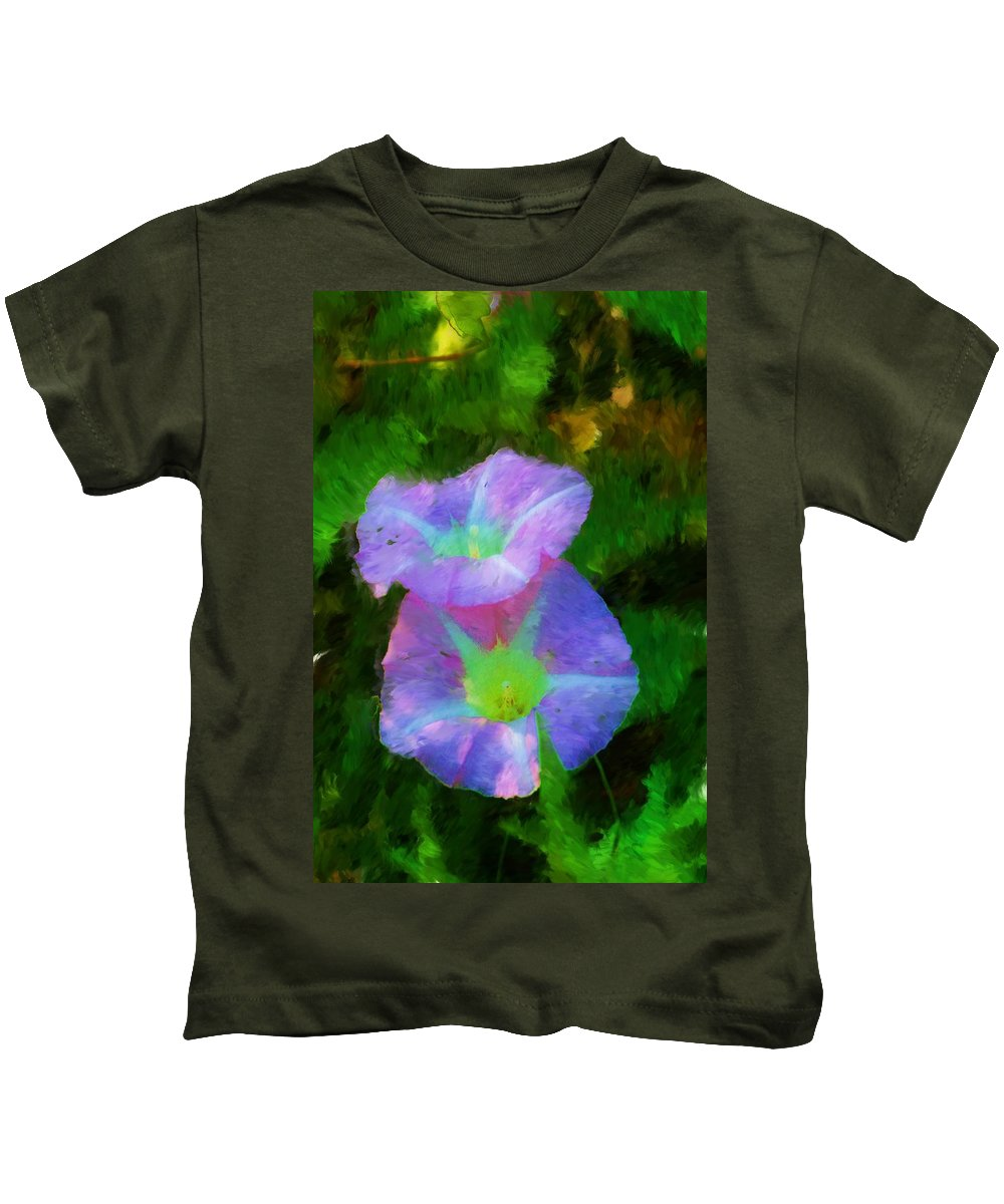 Floral Kids T-Shirt featuring the painting Gloria In The Shade by David Lane