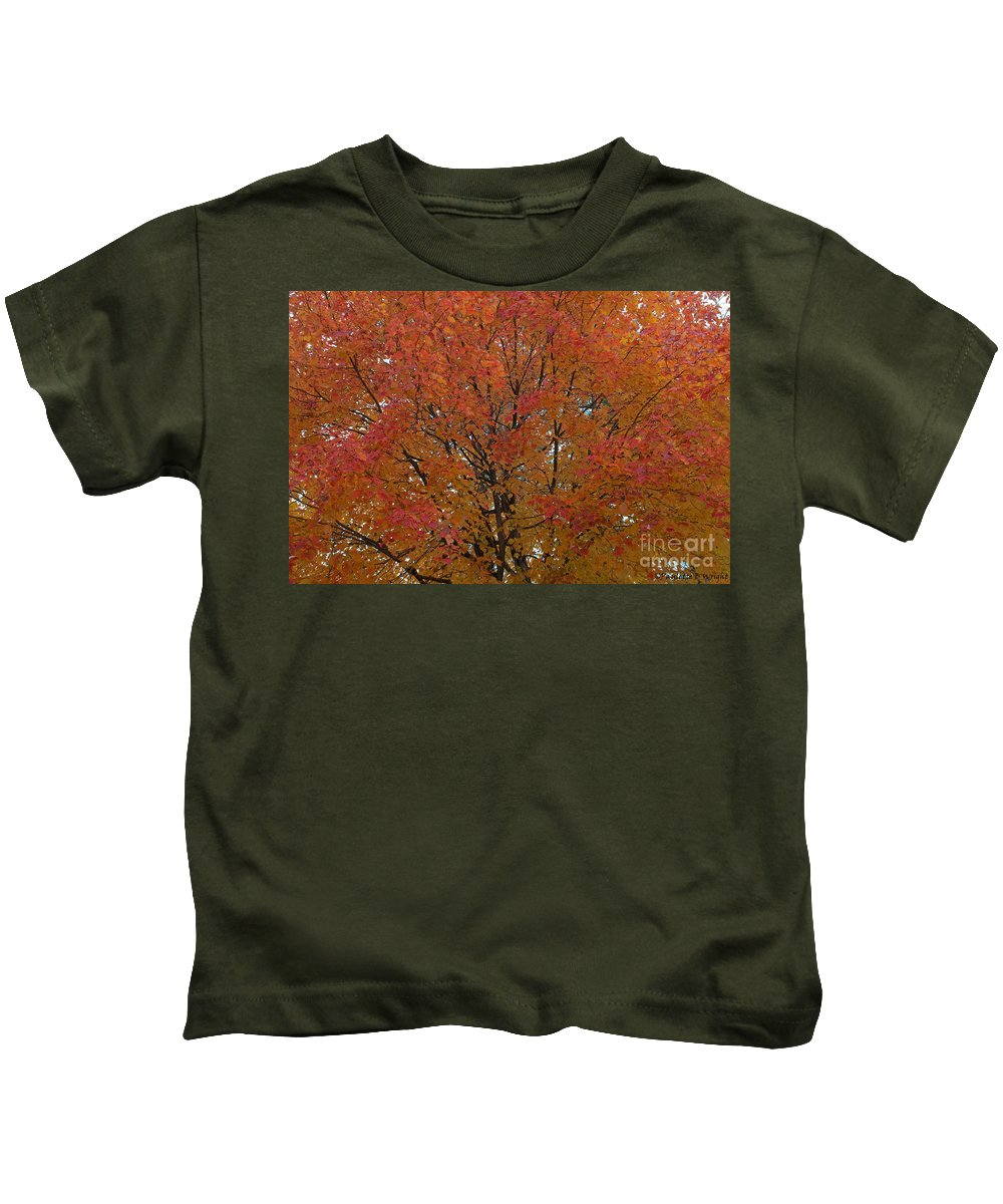 Orange Kids T-Shirt featuring the photograph Glorious Autumn by Paulette B Wright