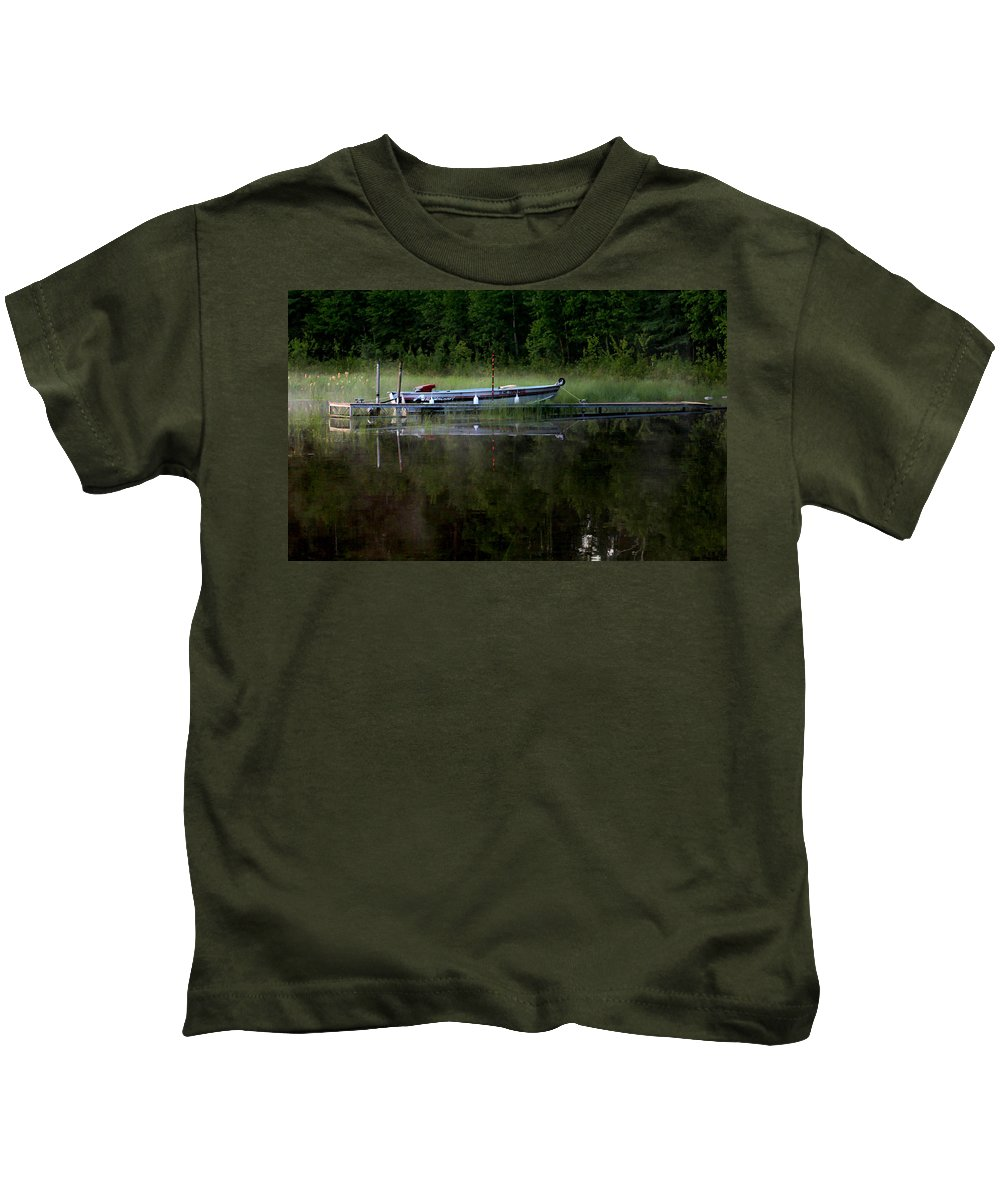 Landscape Kids T-Shirt featuring the photograph Go Fishing by Mary Stilwell