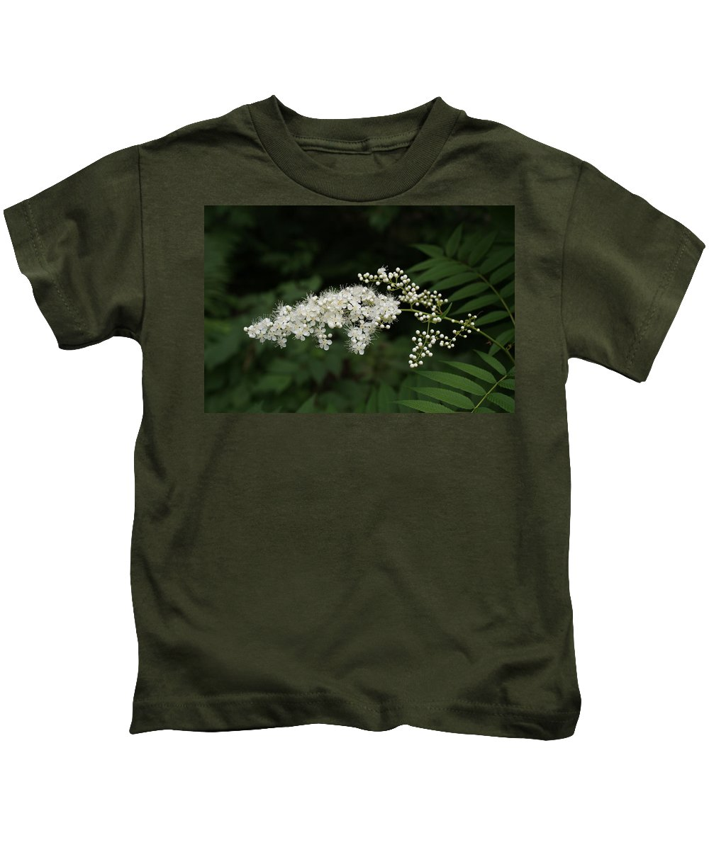Usa Kids T-Shirt featuring the photograph Goat's Beard Bush White Bloom by Holly Eads