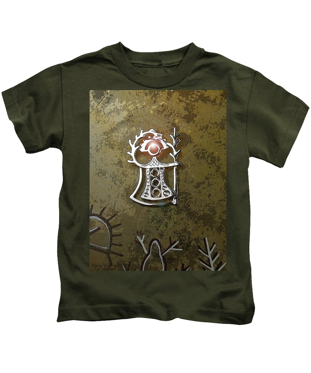 Goddess Kids T-Shirt featuring the digital art Goddess Of Fertility by Merja Waters