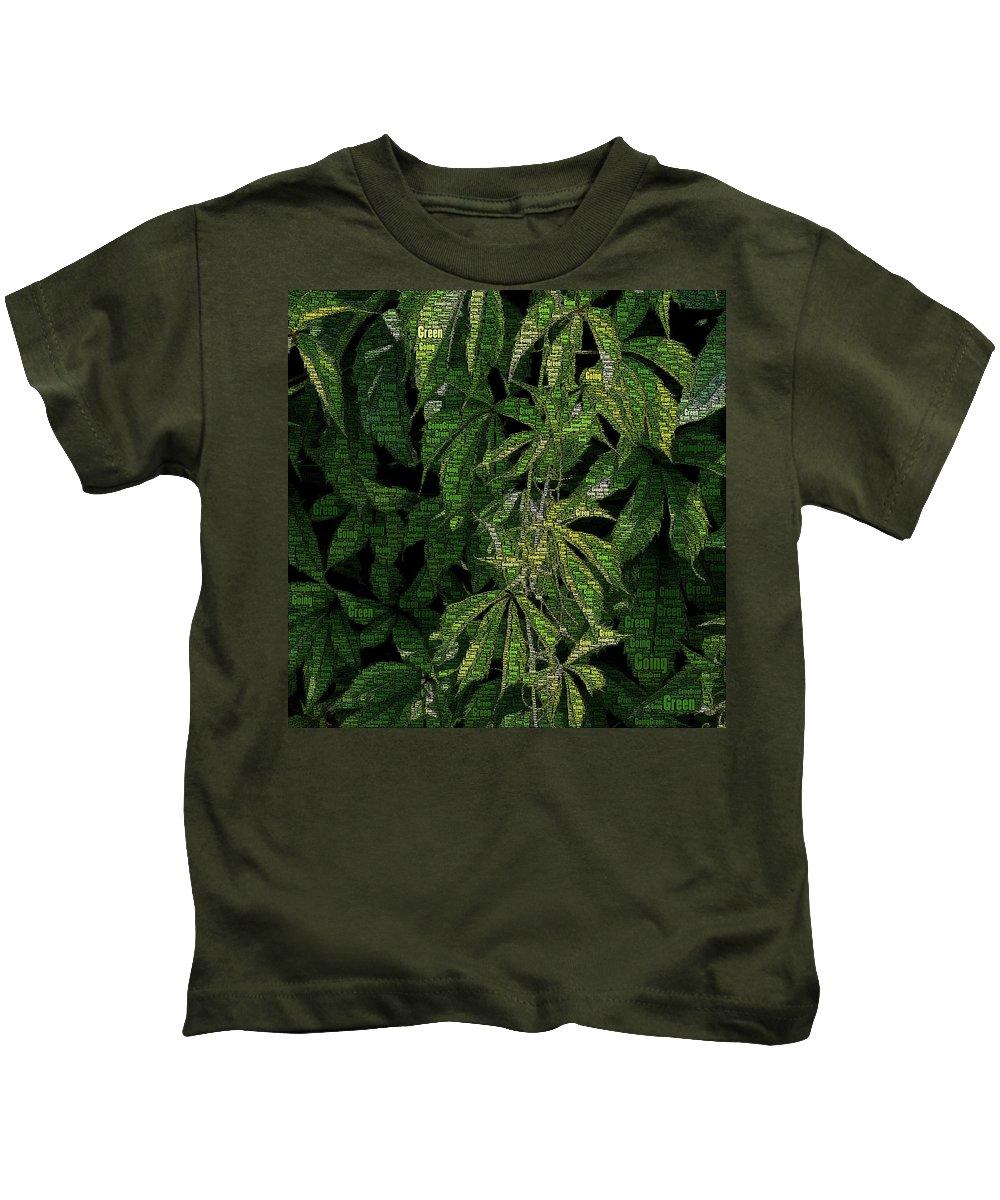 Going Kids T-Shirt featuring the digital art Going Green by Dana Roper