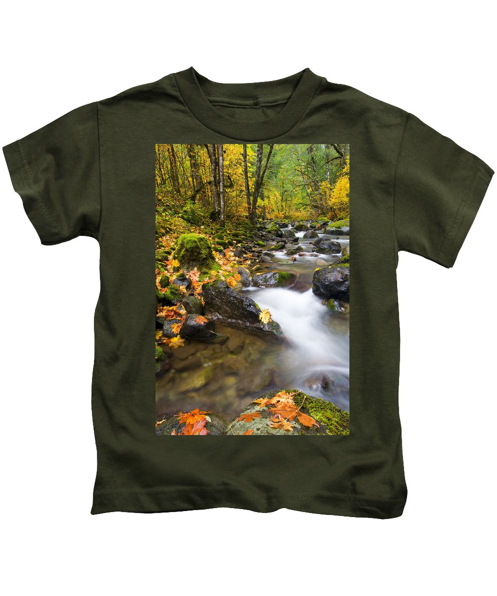 Fall Kids T-Shirt featuring the photograph Golden Grove by Mike Dawson
