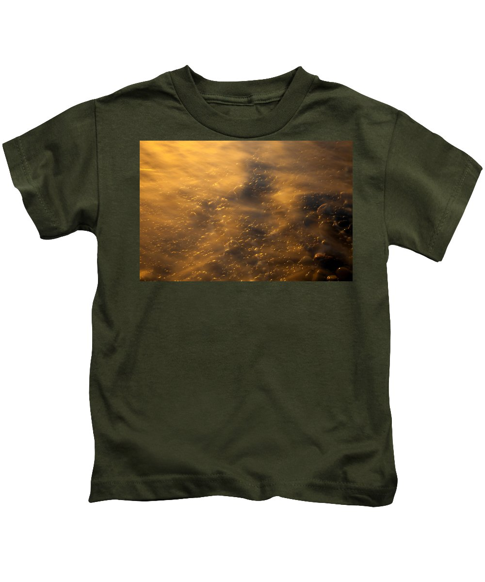 Tides Kids T-Shirt featuring the photograph Golden Light by Mike Dawson
