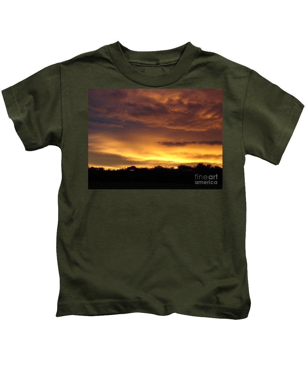 Sunset Kids T-Shirt featuring the photograph Golden Sunset 1 by Carol Lynch