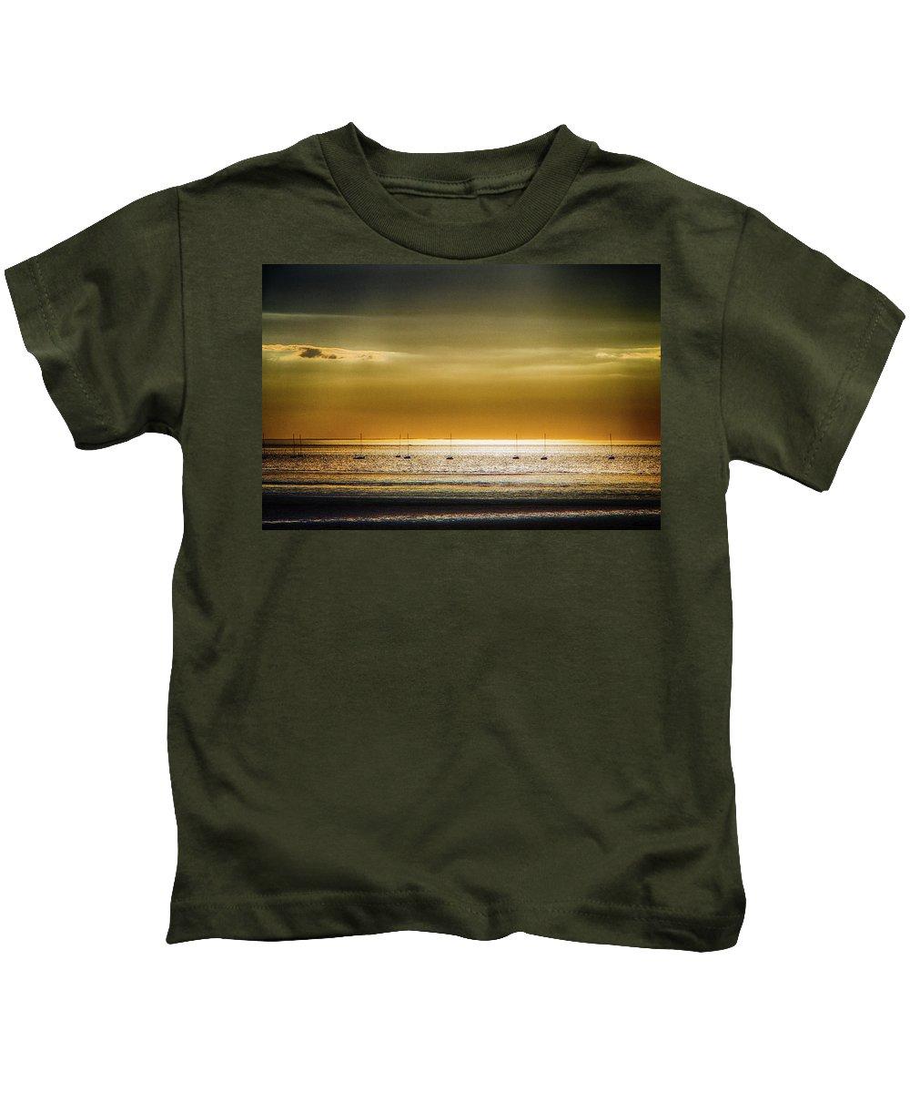 Sunset Kids T-Shirt featuring the photograph Golden Sunset by Robert Anastasi