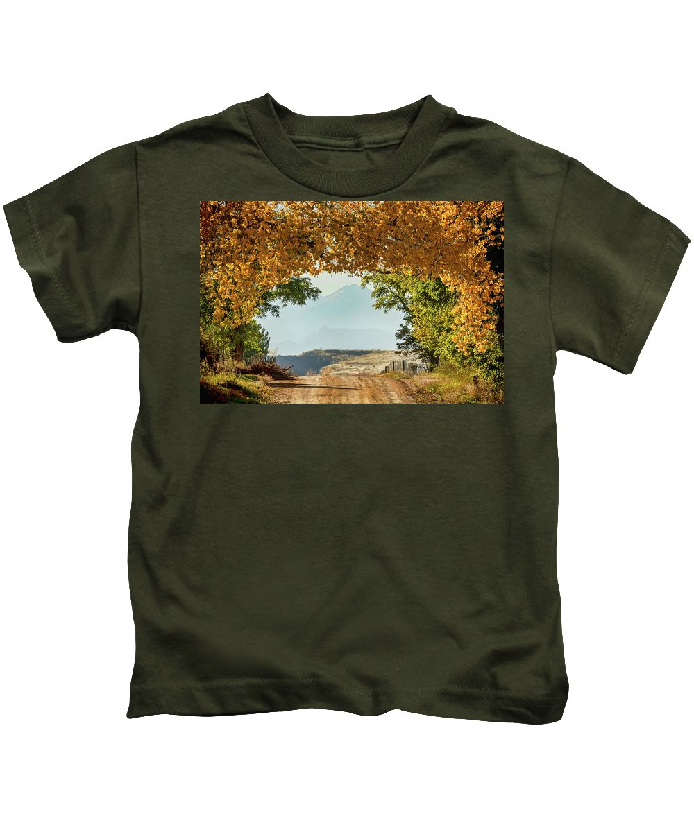 Roads Kids T-Shirt featuring the photograph Golden Tunnel Of Love by James BO Insogna