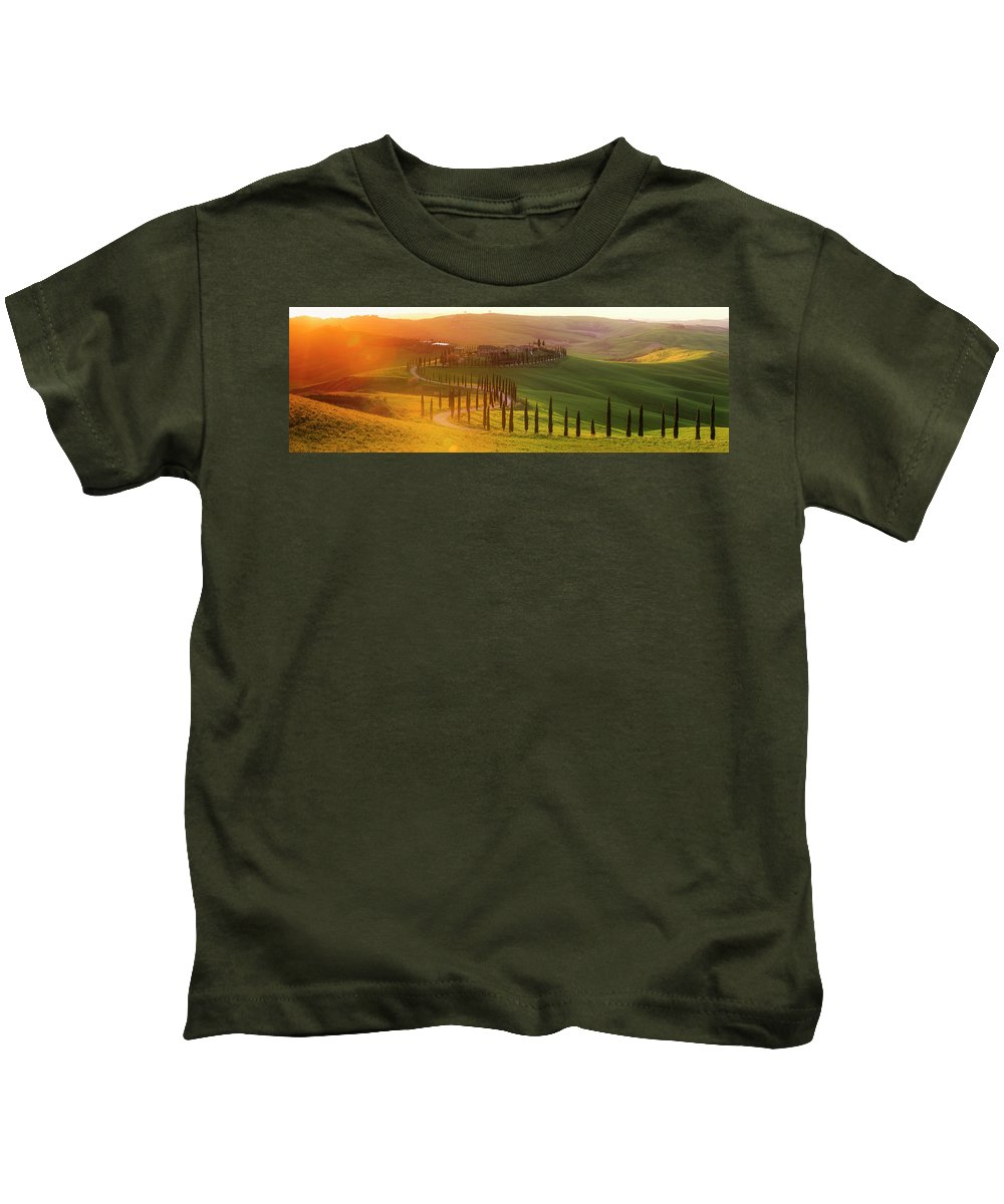Tuscany Kids T-Shirt featuring the photograph Golden Tuscany by Rob Davies