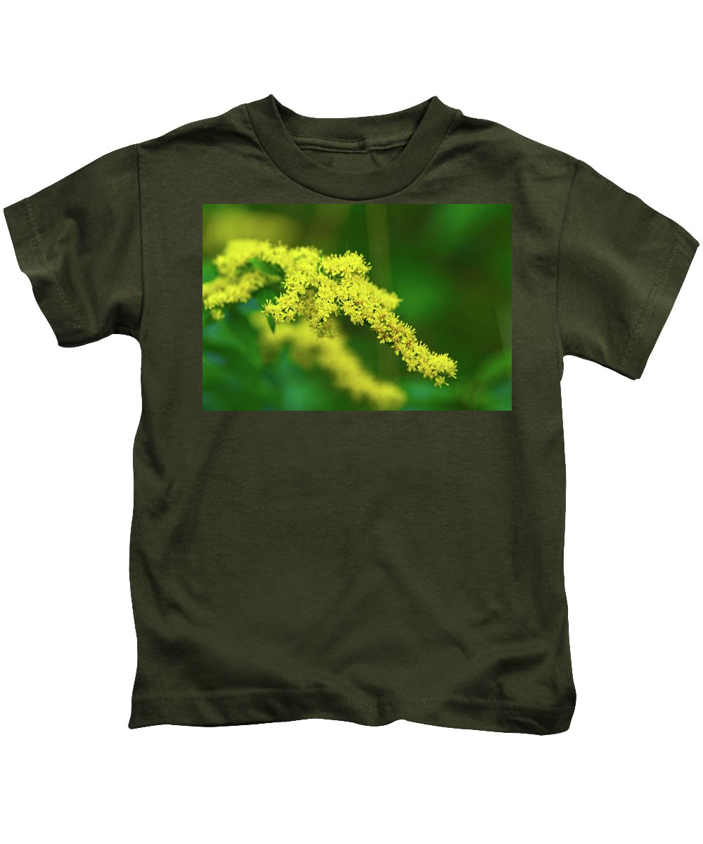 Goldenrod Kids T-Shirt featuring the photograph Goldenrod by Paul Mangold