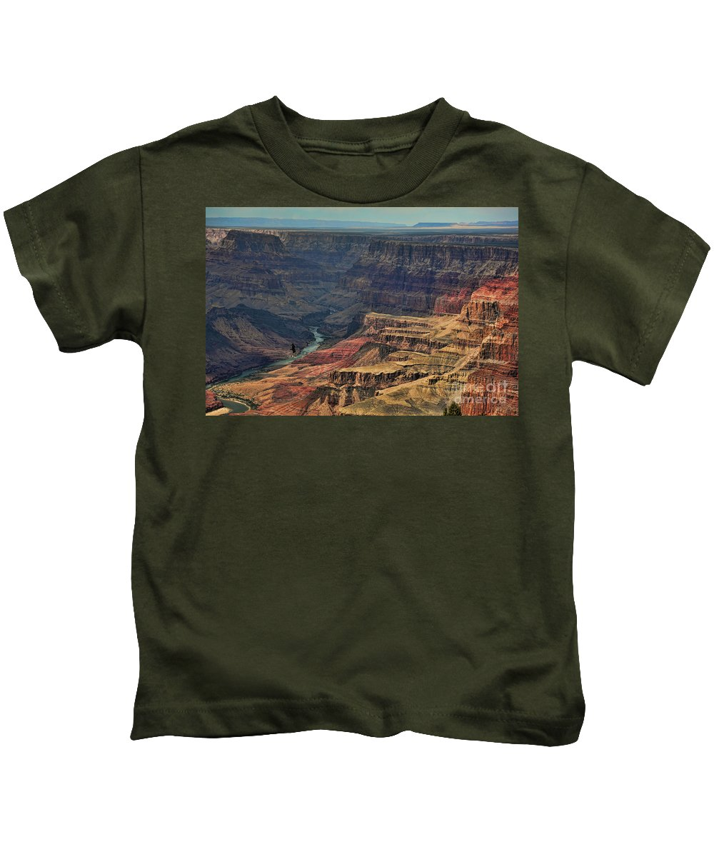 Grand Canyon Kids T-Shirt featuring the photograph Grand Canyon Colorado River II by Chuck Kuhn