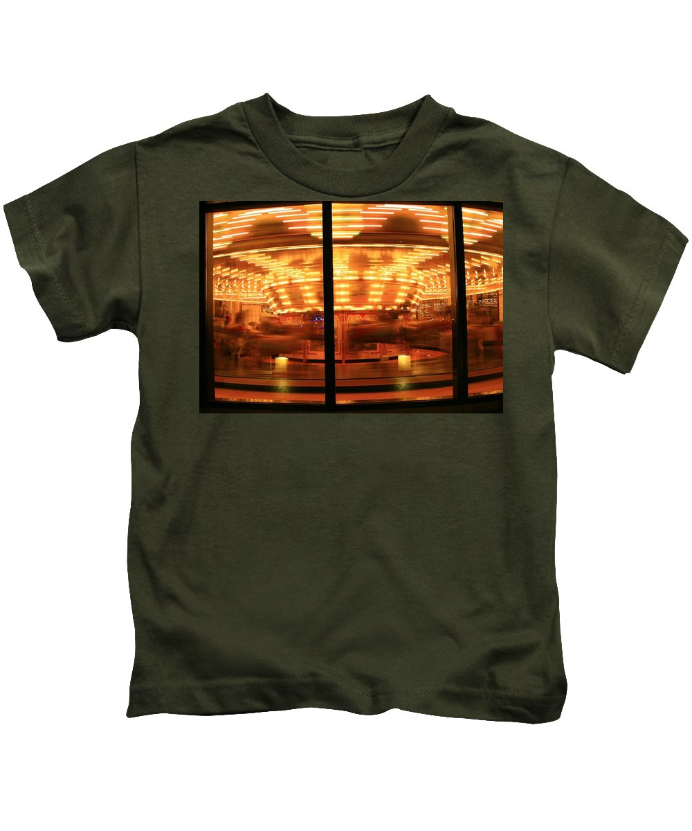 Grand Rapids Mi City Scapes Kids T-Shirt featuring the photograph Grand Rapids Mi Under The Lights-3 by Robert Pearson