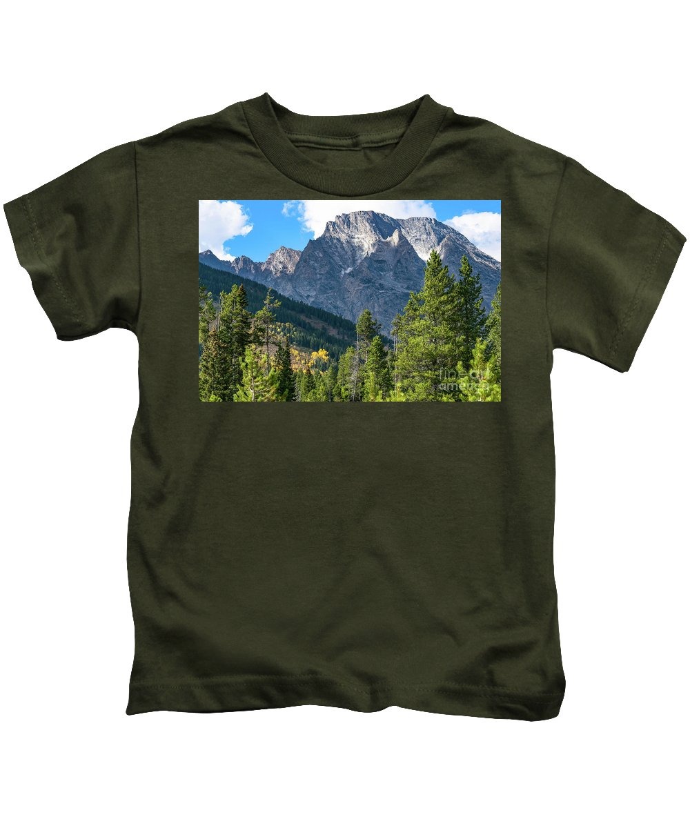 Tetons Kids T-Shirt featuring the photograph Grand Teton National Park by Steven Eyre Photography