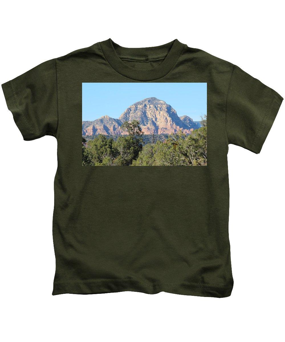 Mountain Kids T-Shirt featuring the photograph Grand View by David Dowlen