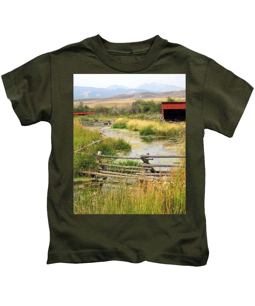 Ranch Kids T-Shirt featuring the photograph Grants Khors Ranch Vertical by Marty Koch