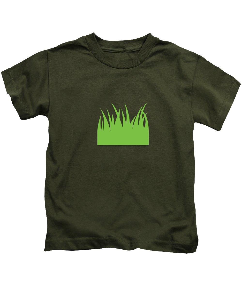 Kids Cutouts Inspiration Kids T-Shirt featuring the painting Grass by Kids Cutouts