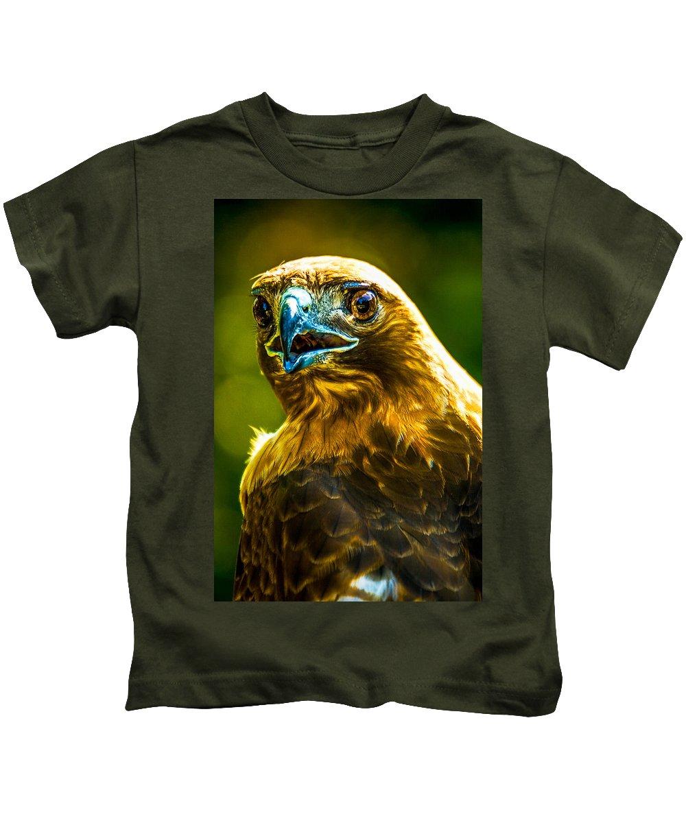 Animal Kids T-Shirt featuring the photograph Eagle by Alfredo Alegrett