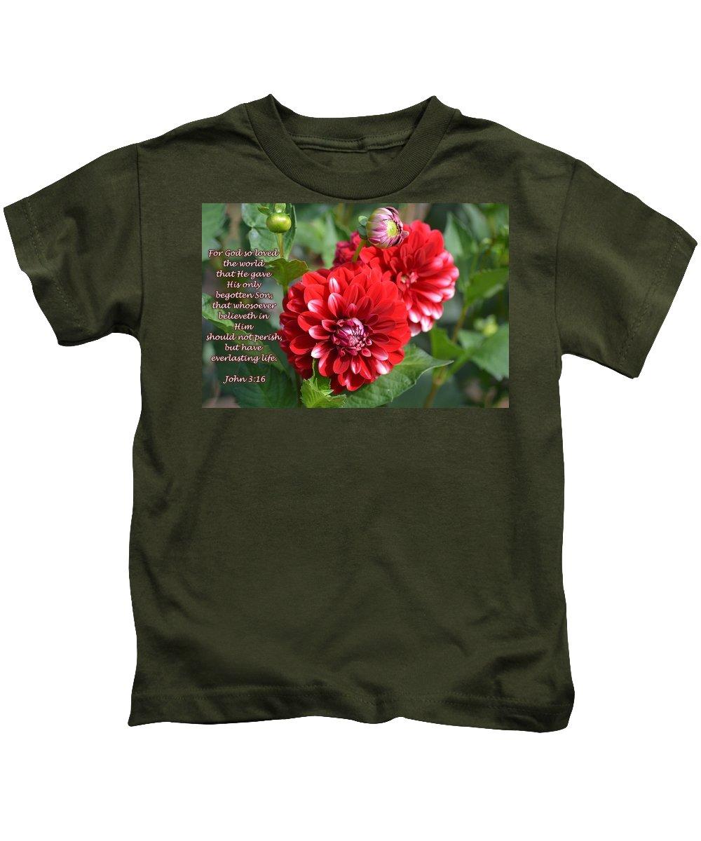 John 3:16 Kids T-Shirt featuring the photograph Great Love by Danecha Osborne