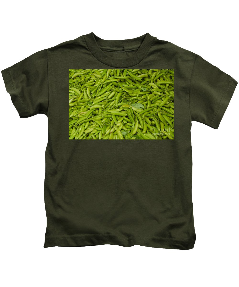 Green Kids T-Shirt featuring the photograph Green Beans by Thomas Marchessault