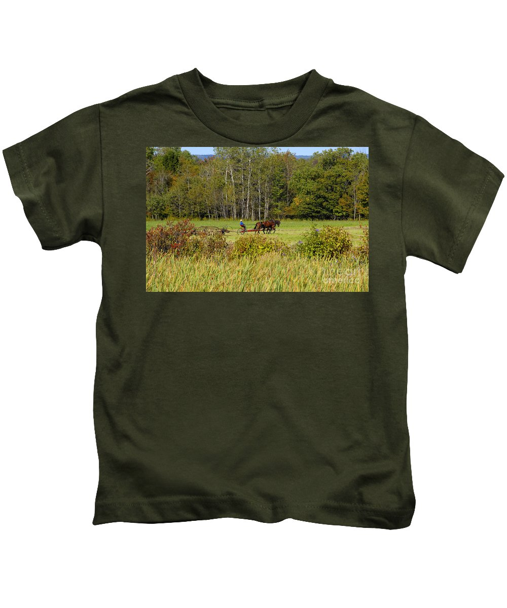 Green Farming Kids T-Shirt featuring the photograph Green Farming by David Lee Thompson