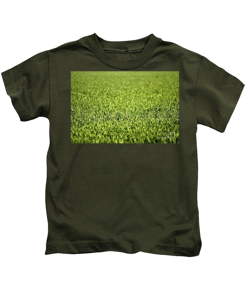 Grass Kids T-Shirt featuring the photograph Green Grass by Dan Radi
