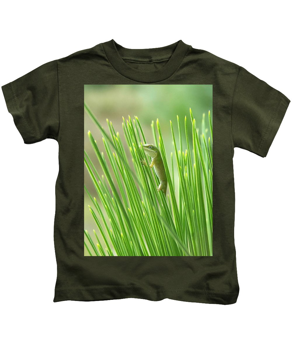 Nature Kids T-Shirt featuring the photograph Green Is Good by Peg Urban