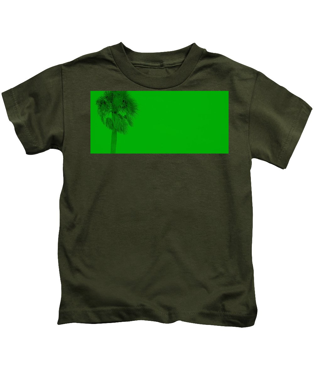 Landscape Kids T-Shirt featuring the photograph Green Palm by Ed Smith