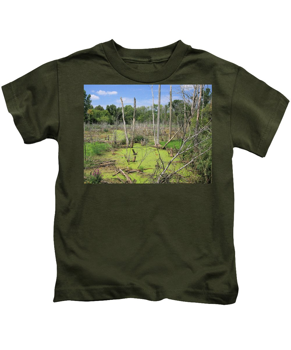 Landscape Kids T-Shirt featuring the photograph Green Pea Soup by Robert Pearson