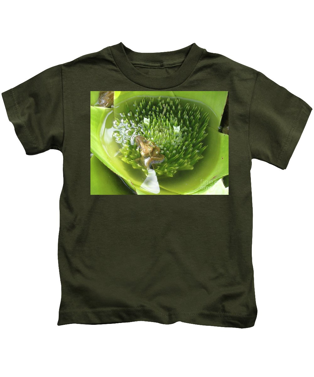 Flowers Kids T-Shirt featuring the photograph Green Pool by Trish Hale