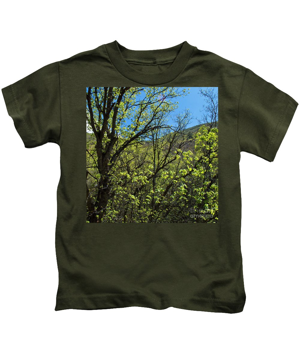 Landscape Kids T-Shirt featuring the photograph Green Reach by Dustin Jensen