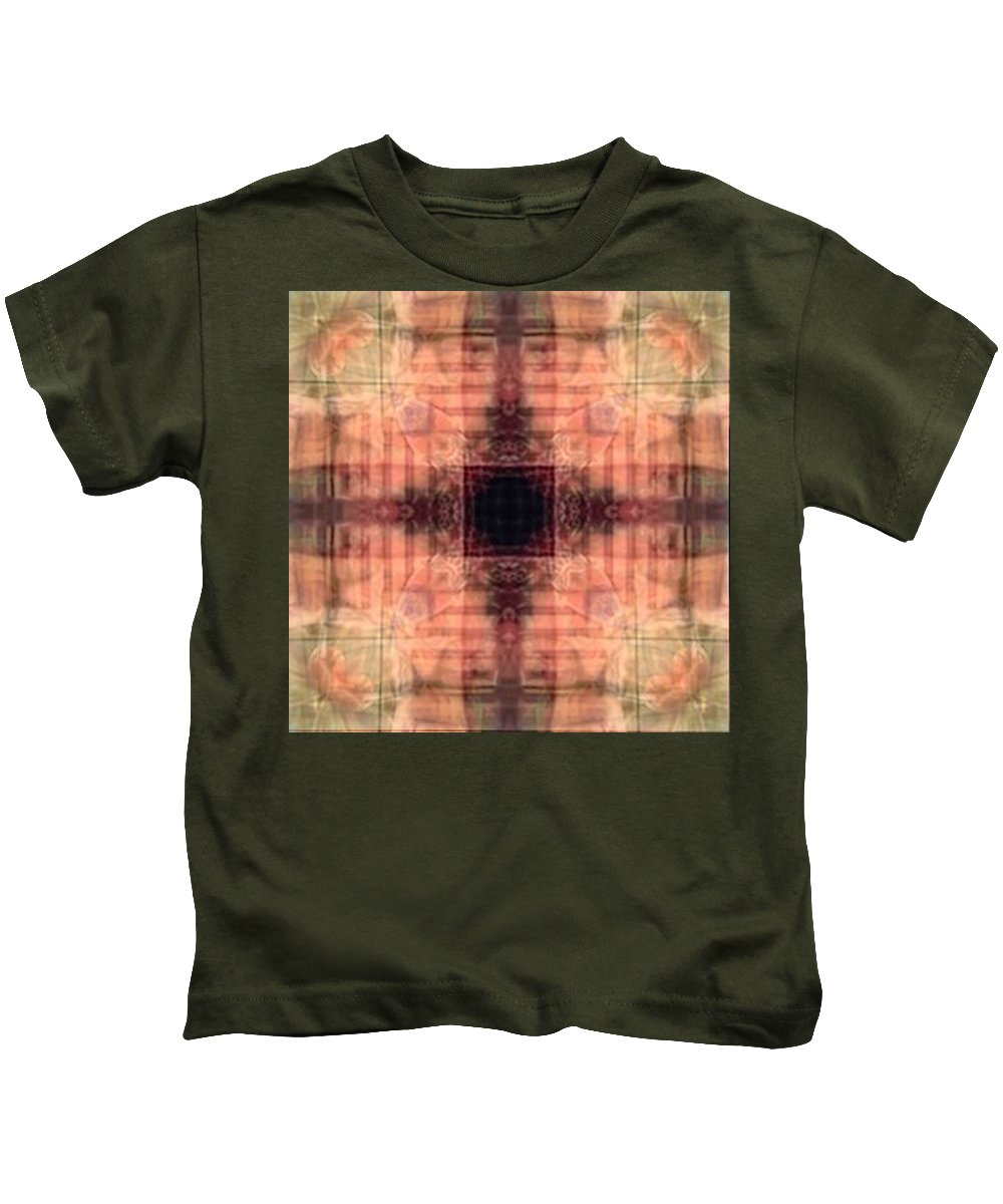 Desertcoyote Kids T-Shirt featuring the digital art t49 by Randy Nile