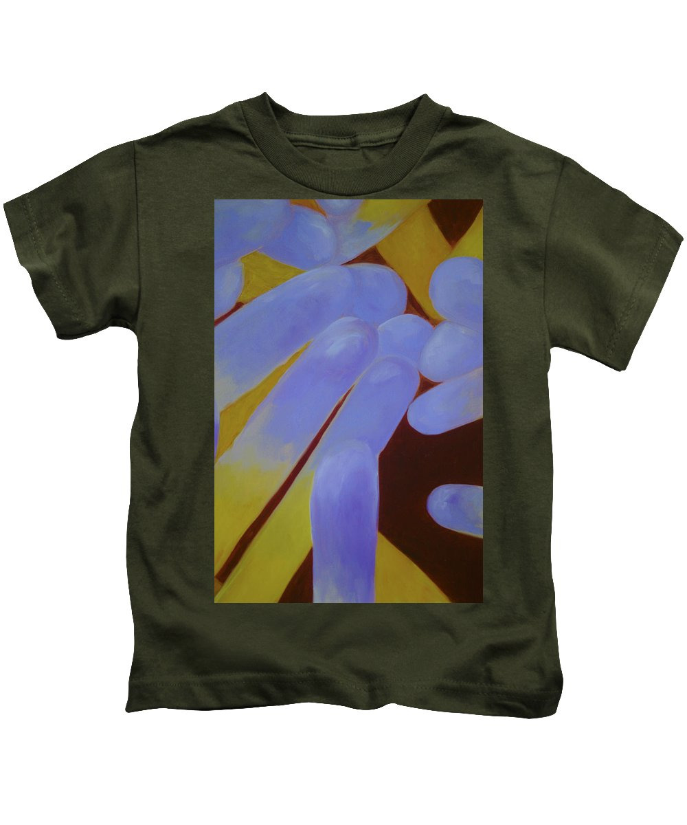 Abstract Kids T-Shirt featuring the mixed media Greeting The Sun by Jacqueline Marks