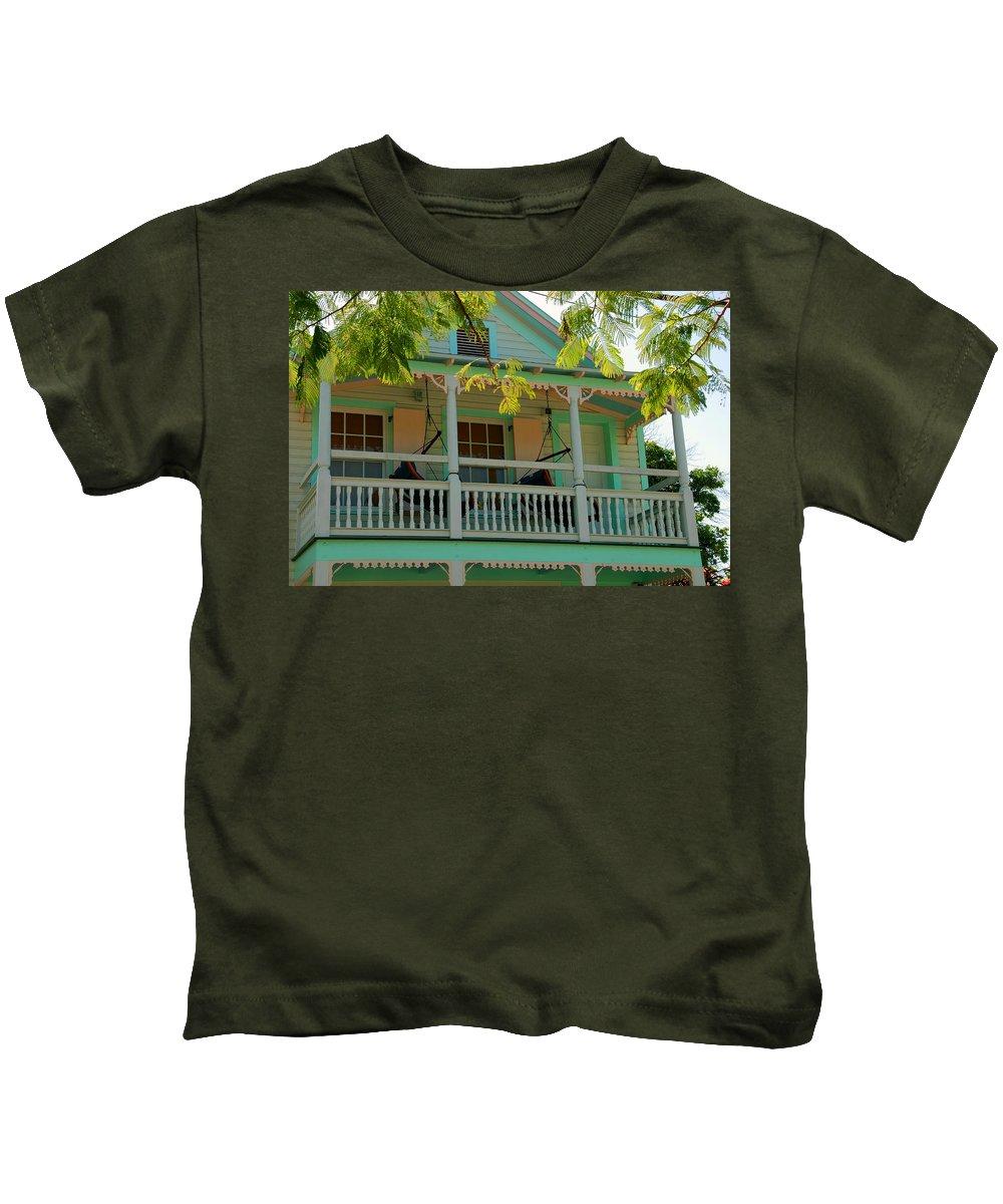 Hammocks Kids T-Shirt featuring the photograph Hammocks In Paradise by Susanne Van Hulst