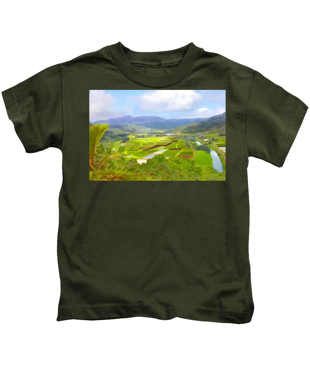 Hawaii Kids T-Shirt featuring the photograph Hanalai by Kurt Van Wagner