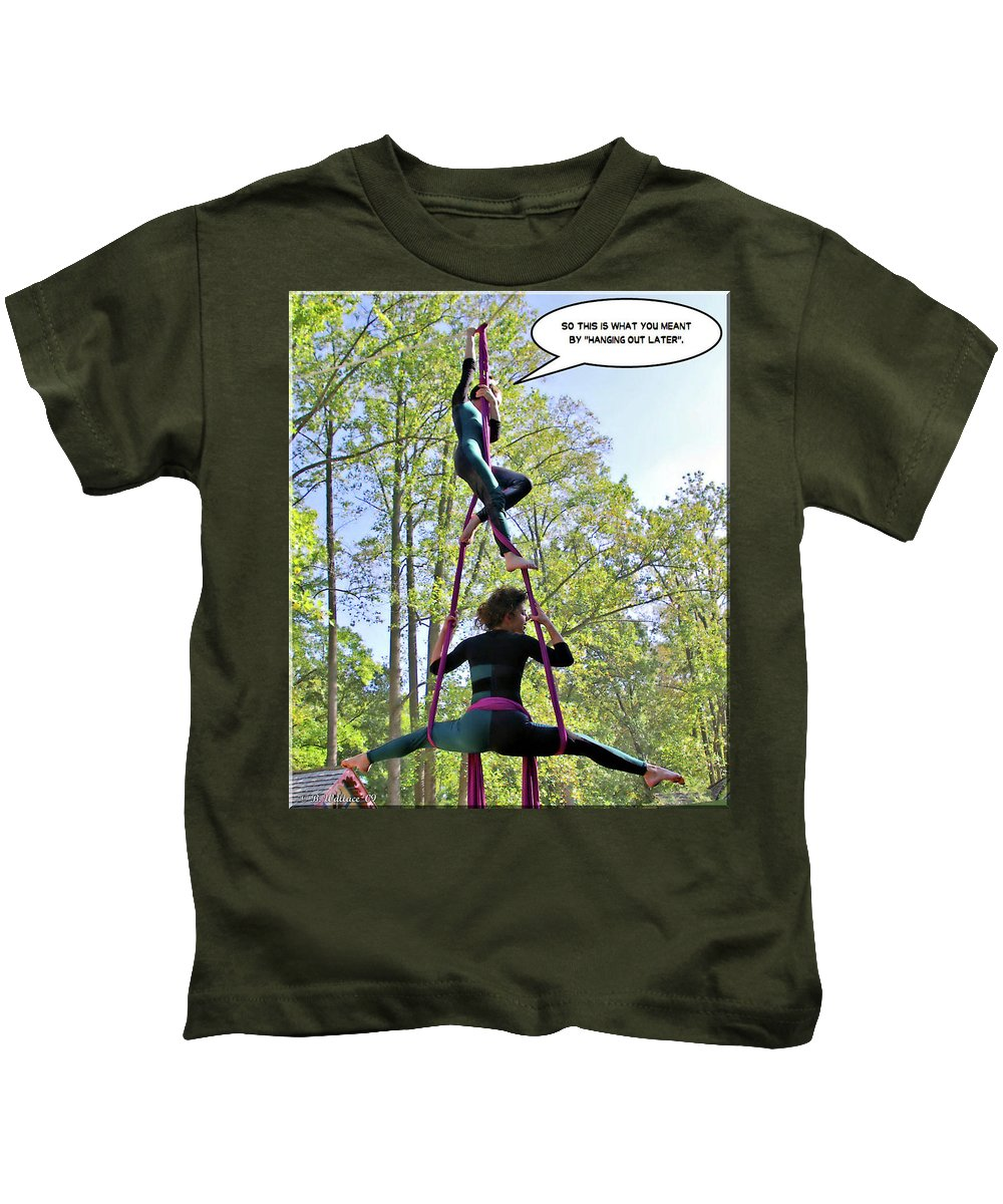 2d Kids T-Shirt featuring the photograph Hanging Out by Brian Wallace