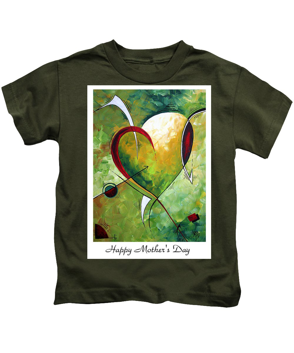 Art Kids T-Shirt featuring the painting Happy Mother's Day By Madart by Megan Duncanson