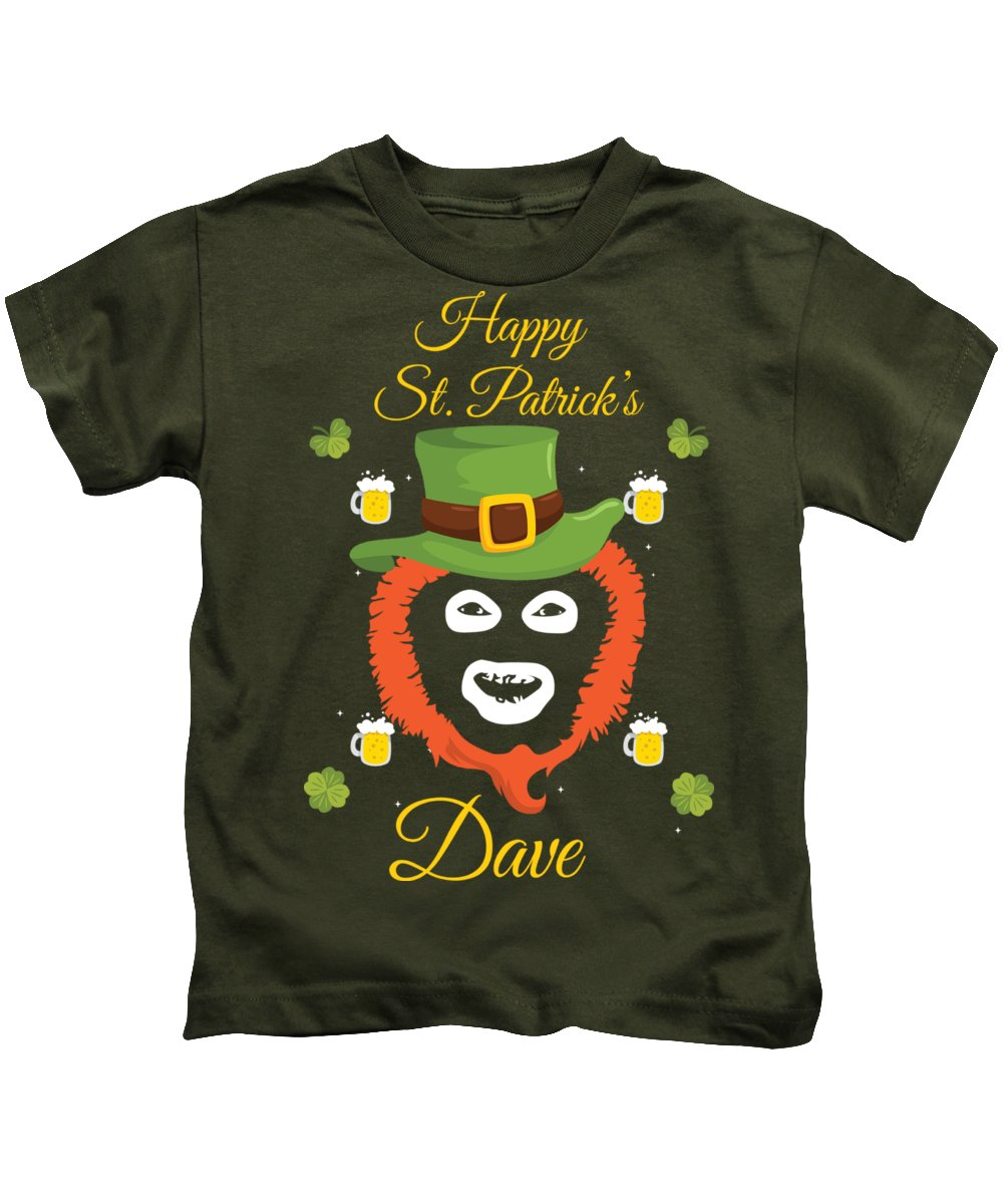 Mike Tyson Kids T-Shirt featuring the digital art Happy St Patrick's Dave League Of Gentlemen Inspired Papa Lazarou by Robert Kelly