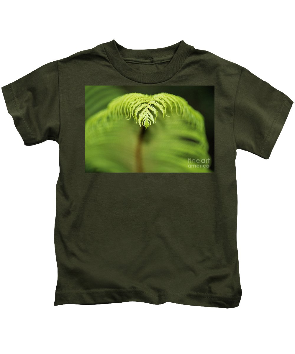 Abstract Kids T-Shirt featuring the photograph Hapuu Fern by William Waterfall - Printscapes
