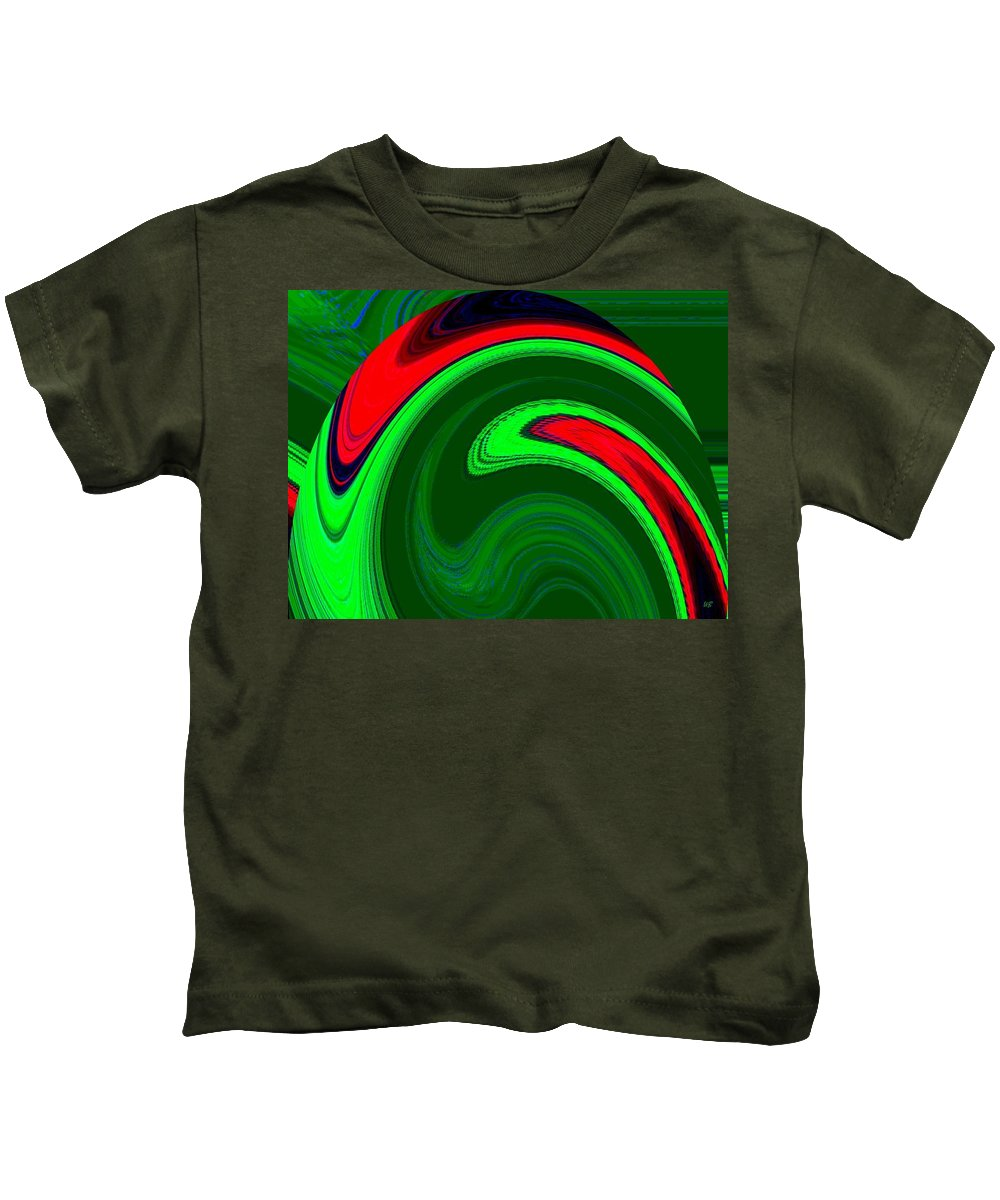 Abstract Kids T-Shirt featuring the digital art Harmony 20 by Will Borden