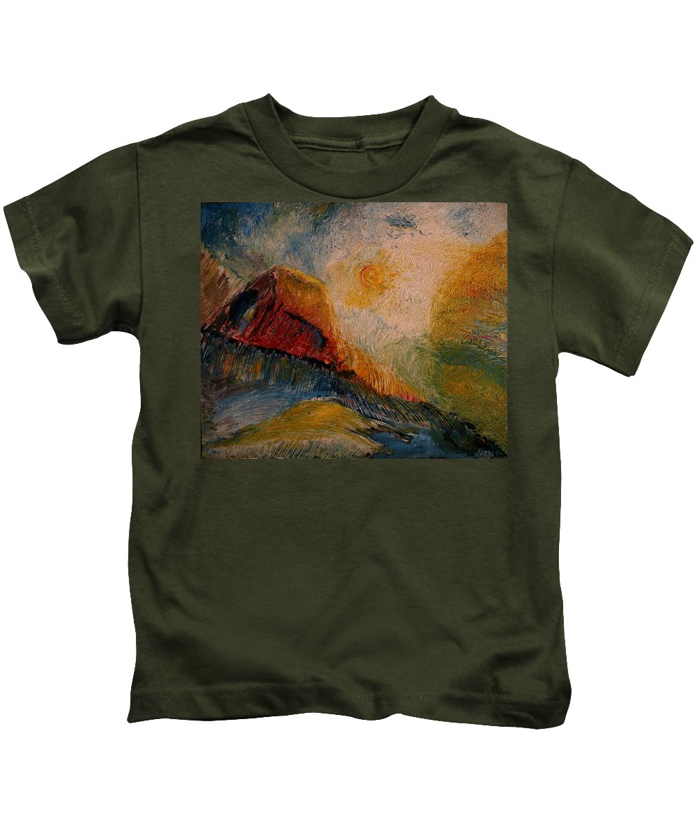 Rede Kids T-Shirt featuring the painting Harvast by Jack Diamond
