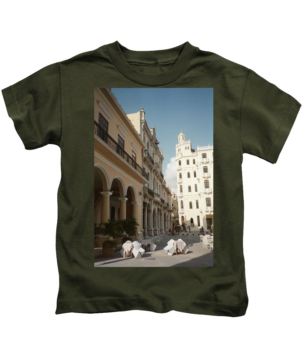 Photo Kids T-Shirt featuring the photograph Havana Vieja by Quin Sweetman